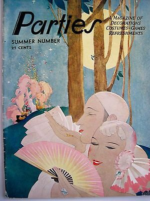 "Games & Refreshments * Costumes Sensible Art Deco ""parties"" A Magazine Of Decorations"