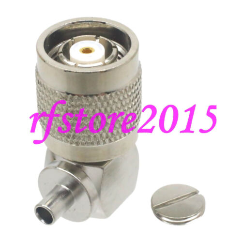 """1pce Connector RP-TNC male jack solder RG405 0.086/"""" cable RF COAXIAL Right angle"""