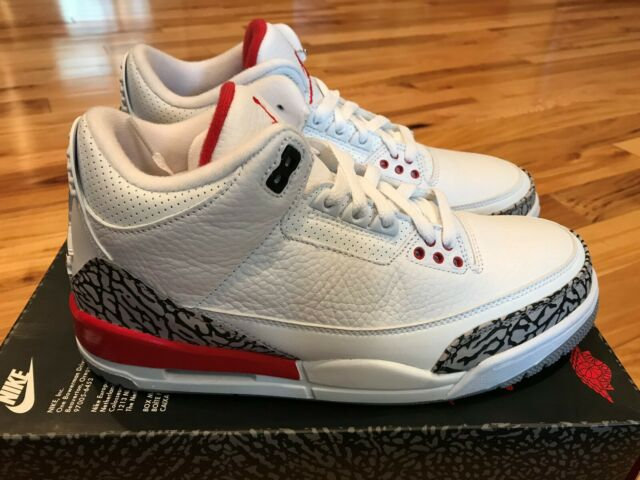 huge discount 84212 e36ef Nike Air Jordan 3 Retro Hall of Fame White Fire Red 136064 116 Size 8.5  NOBOXTOP