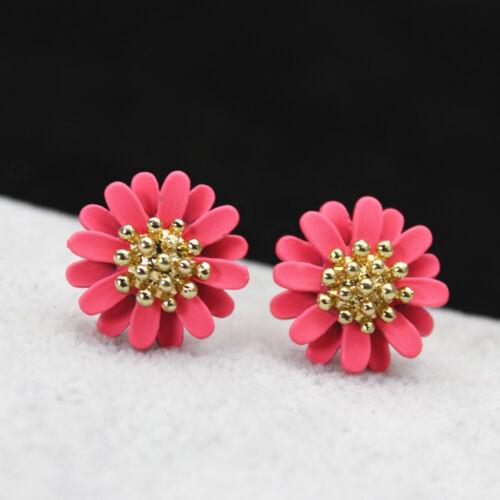 New Fashion Elegant Jewelry Big Flowers Stud Earrings for Women Girl Lady SG