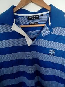 Glenmuir-Short-Sleeved-Striped-Golf-Polo-Shirt-Loose-Fit-Large-L