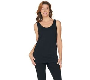 H-by-Halston-Women-039-s-Essentials-Scoop-Neck-Knit-Tank-Top-Black-Small-Size-QVC