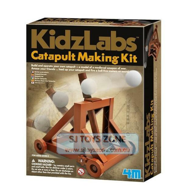 4M KidzLabs Catapult Making Kit Science Building Set Kids Educational Toy
