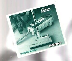 vintage-ELECTROLUX-Hi-Tech-2100-Vacuum-Cleaner-Original-OWNER-039-s-MANUAL-Scarce
