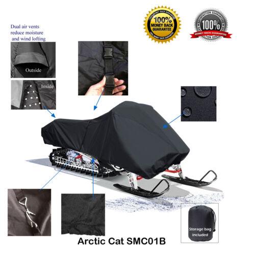 Arctic Cat F5 F6 F7 F8 Firecat Deluxe Snowmobile Sled Cover Black