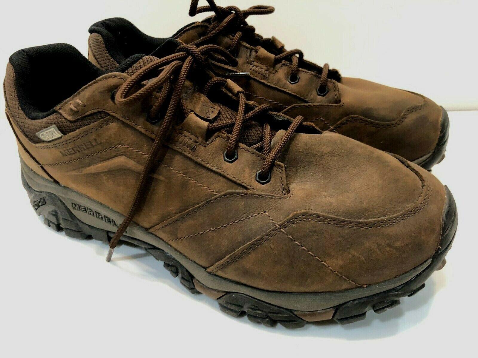 Merrell Moab Adventure Lace Waterproof Hiking shoes (Men's) in Dark Earth 11.5