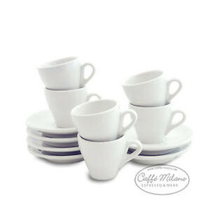 Cappuccino-Tassen-weis-dickwandig-Made-in-Italy-6-Stueck-Caffe-Milano