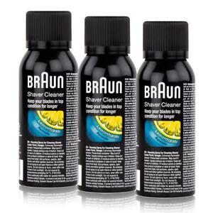3x-Braun-Shaver-Cleaner-Reinigungsspray-fuerRasierapparat