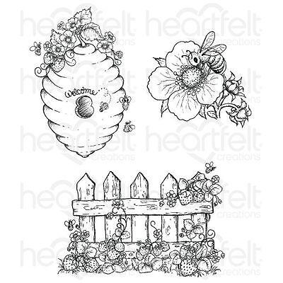 Heartfelt Creations: Sweet as Honey Cling Stamp Set (HCPC-3735)