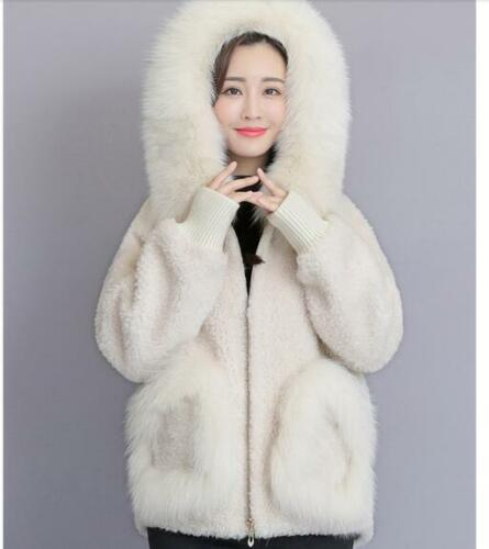 Jacket Outwear Coat Collar Hot Hooded Varm Kvinder Parka Fur Real Vinter Faux wtqxEBAC