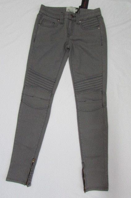 New Ed Hardy Women Stretch Classic Skinny Legs Gray Narrow Denim 25/31 $199