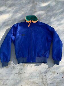 Columbia-Mens-Large-Winter-Jacket-Coat-Size-L-Retro-Vintage-Blue-Color-Block