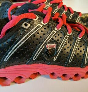 Dettagli su K Swiss Tubes, Nero Rosa Aosta II Taglia 6 composto Scarpe da corsa, jogging, palestra mostra il titolo originale
