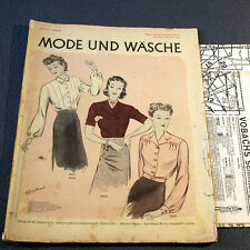1930s 1940s GERMAN FASHION & SEWING PATTERN MAGAZINE - Vintage 30s 40s BLOUSES