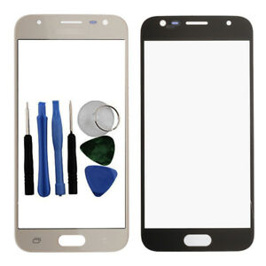Fuer-Samsung-Galaxy-J3-2017-Front-Glas-Screen-Outer-Linse-Cover-Gold-J330-Tools