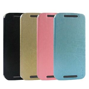 brand new c8df7 d6d24 Details about Luxury Flip Leather Case Cover for Motorola Moto G 2nd Gen  XT1063 G2 2014