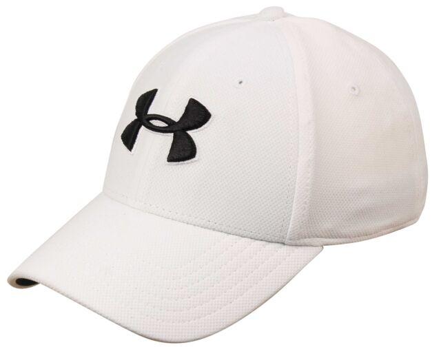 797a1220c Under Armour Mens White Blitzing 3.0 Performance Cap Hat Logo Size L/xl