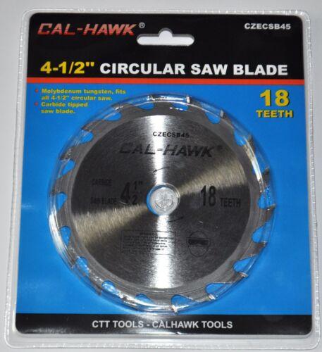"""4-1//2/"""" Pouces Circulaire Cercle Lame de scie 18 dents Carbide Tipped 5//8/"""" Arbor bois"""