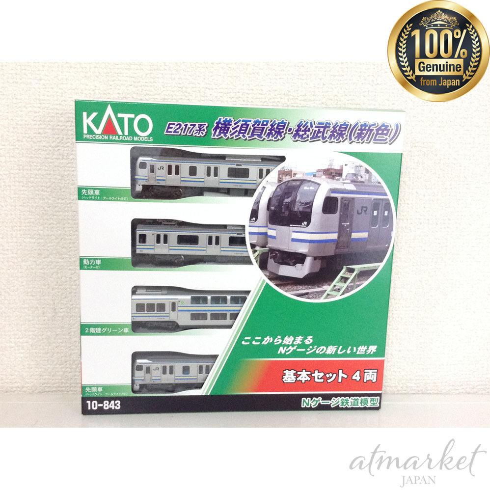 Kato N Scale 10-843 E217 tipo Yokosuka Línea Sobu Line Nueva Color 4 coches en Caja