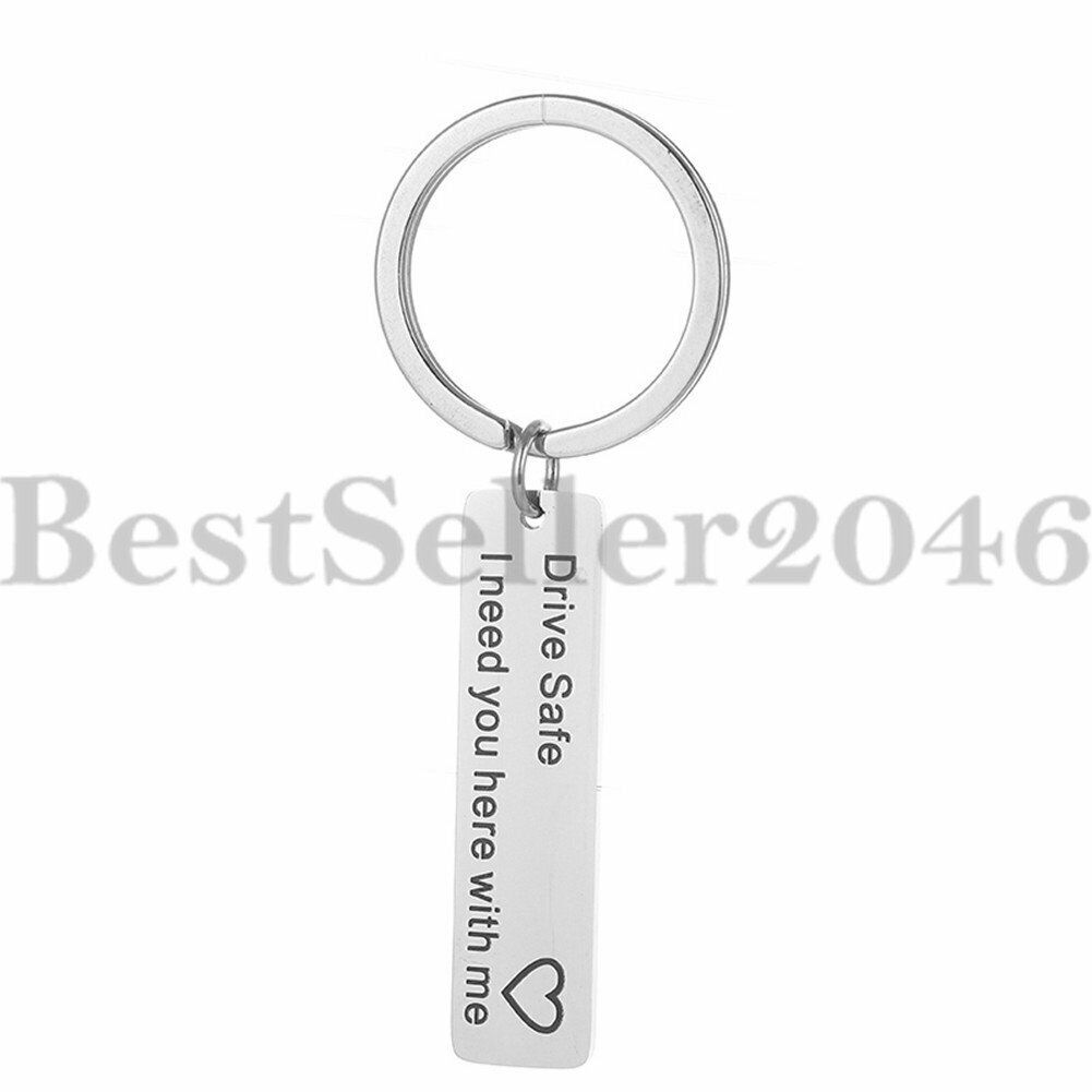2 Pack Drive Safe Keychain for Boyfriend Husband Dad with Motor Charm and Car Charm