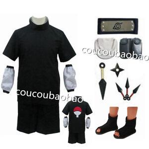 Naruto Uchiha Sasuke Cosplay Costume 2nd Generation Full set