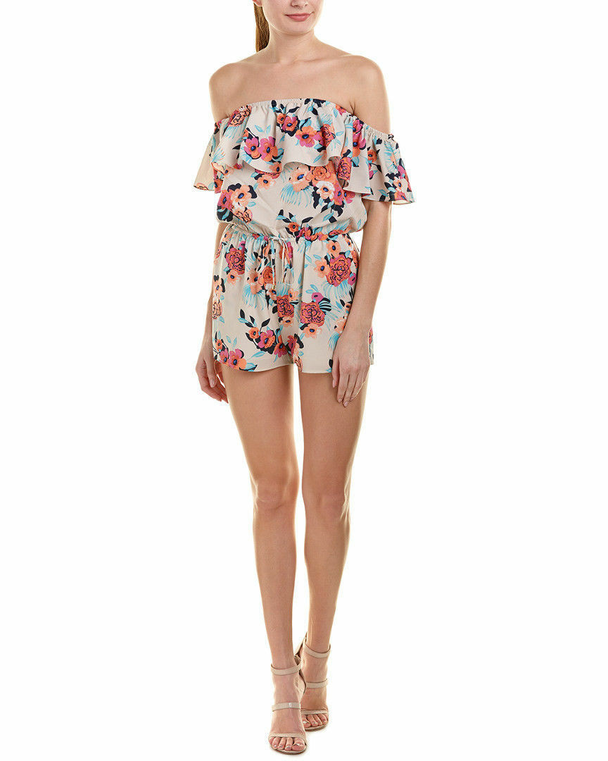 YUMI KIM Peonies Bloom Off The Shoulder Romper Size L  198 SAKS FIFTH AVE NEW