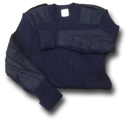 1 NEW GENUINE ISSUE CREW NECK NAVY WOOLLY PULLY JUMPER 100/% WOOL 16012