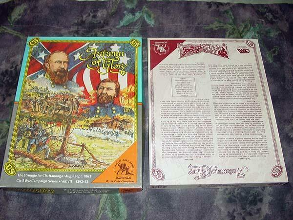 Clash of Arms - Autumn of Glory - Sturggle for Chattanooga 1863 (UNPUNCHED)