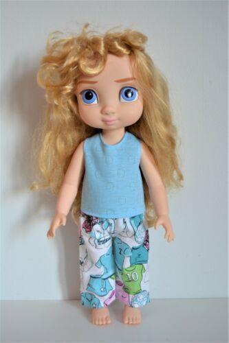 "Handmade Doll Clothes Pajamas 2 Pc set Disney Animators 16/"" Elsa Anna Toddler"