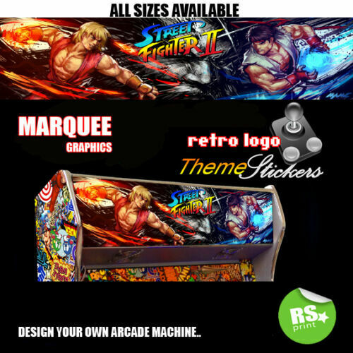 Street Fighter new graphic Arcade Artwork Marquee Stickers Graphic All Sizes