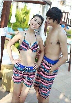 Fashion Mens Womens Lovers Beach Surf Board Swim Shorts Casual Swim Pants C4g