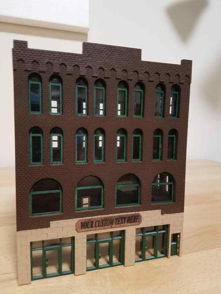 1 87 scale four story store front built and ready