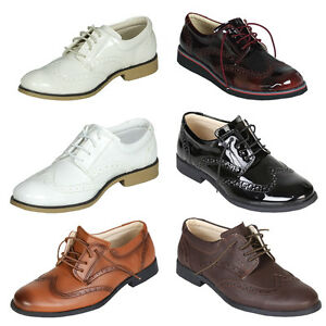 38a9616cf76d6d Image is loading Boys-Oxford-Shoes-Kids-Brogue-Shoes-Boys-Formal-