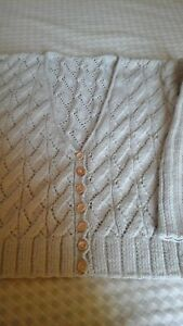 Pure Wooden Buttons Cardigan Neck Wool Handknitted V RqzE0wZ