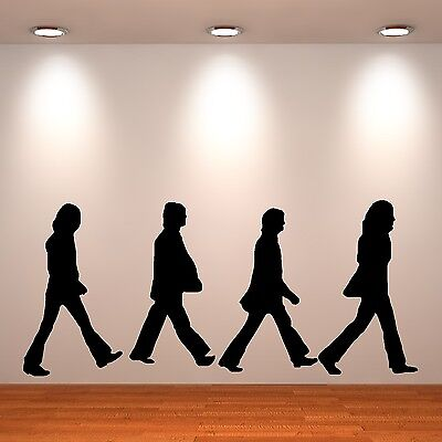 THE BEATLES wall art sticker room decal ABBEY ROAD SILHOUETTE the fab four music