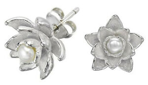 bc66843f2 Image is loading DOWER-amp-HALL-Orchid-Sterling-Silver-Carved-Freshwater-