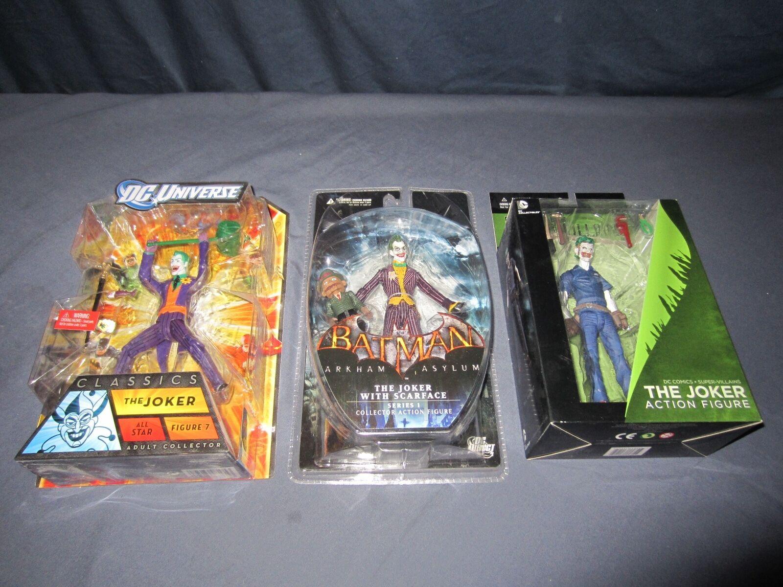 BATMAN ARKHAM ASYLUM JOKER SCARFace DC UNIVERSE ALL STAR COMICS SUPER VILLAINS