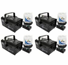 (4) Chauvet Halloween DJ Fog Smoke Machines w/ Fog Fluid & Wired Remote | H-700