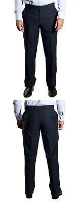 Fiducioso Classico Pantaloni Uomo Tg 30 Blu Scuro- Aroma Fragrante