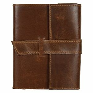 RUSTIC TOWN Refillable Handmade Vintage Antique Look Genuine Leather Bound Journ 635682863027