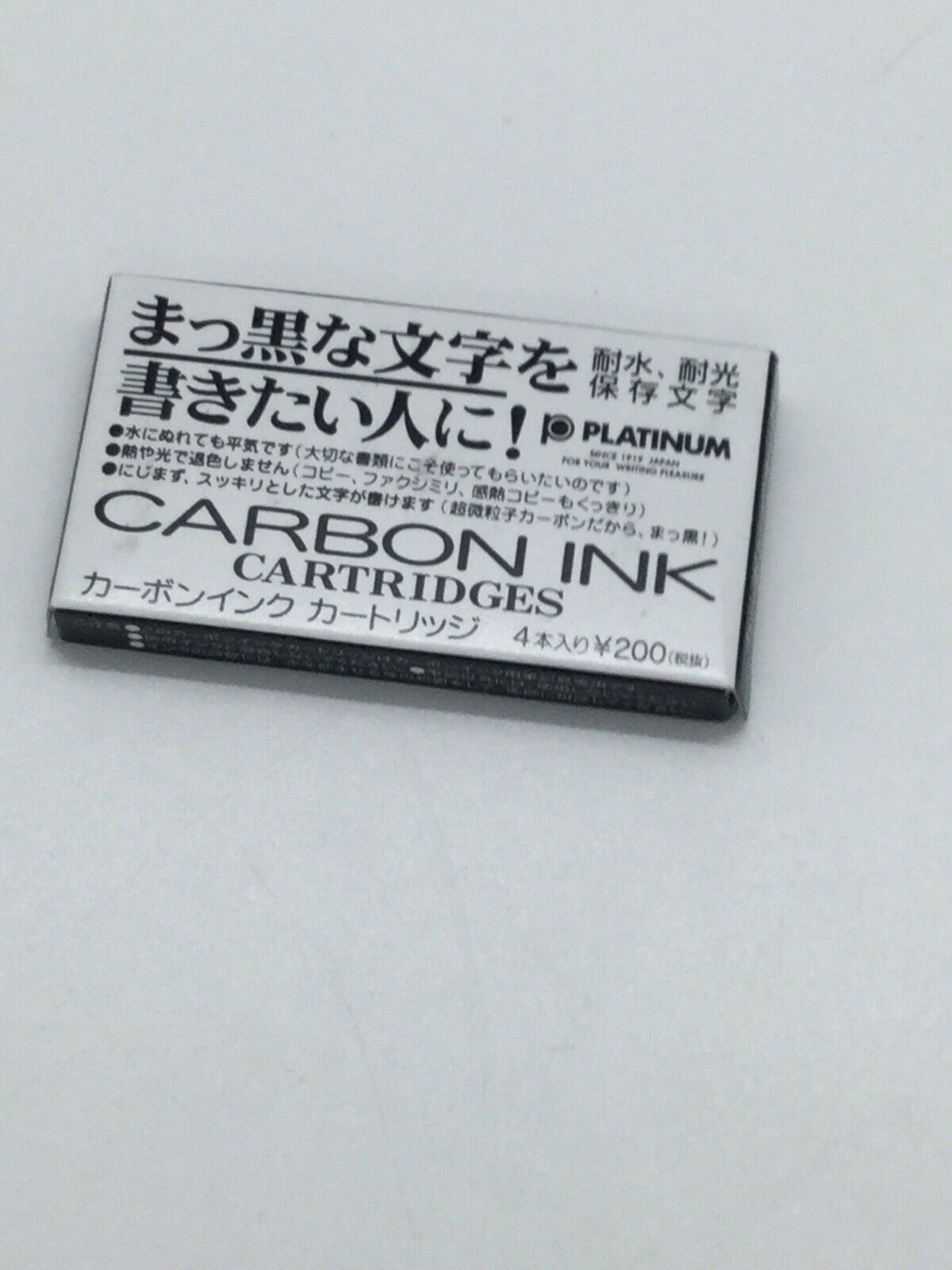 Platinum Carbon Ink 4 Cartucce Indelebili