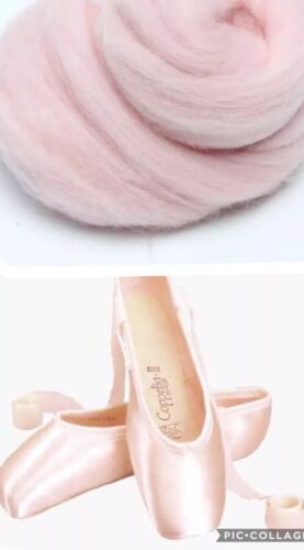 Double Pack Ballet Pointe Shoe Lambs Wool Padding, Cushioning Toe Pads PINK X 2