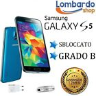 SAMSUNG GALAXY S5 G900F 16GB BLU GRADO B RIGENERATO RICONDIZIONATO USATO