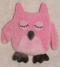 Target Cherokee Baby Plush Pink Owl Corduroy Rattle Soft Stuffed Toy