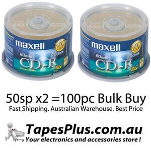 100 Maxell Gold Blank CD-R media 52X CD -R CDR Original Factory Seal CDR CD AP-C
