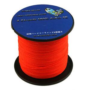 Orange-100-PE-Dyneema-Spectra-Super-Use-100-1000M-6-100LB-Fishing-Braided-Line
