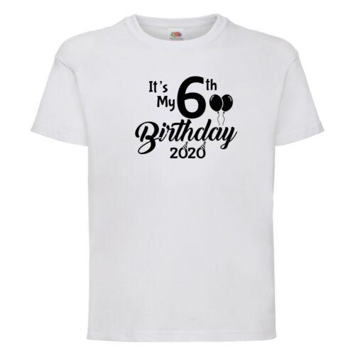 2020 Birthday age  T shirt Boy Girl children kids Clothes Gift Present keepsake