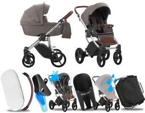 Kombi Kinderwagen Bebetto Luca 2in1 Neue 11 Grauer Rahmen Megapack Im Set Ebay