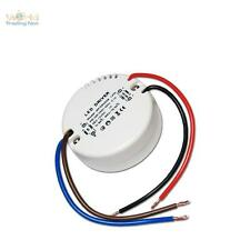 LED Transformador RENDONDO 12V 1A 12W transformador Accionador LEDs