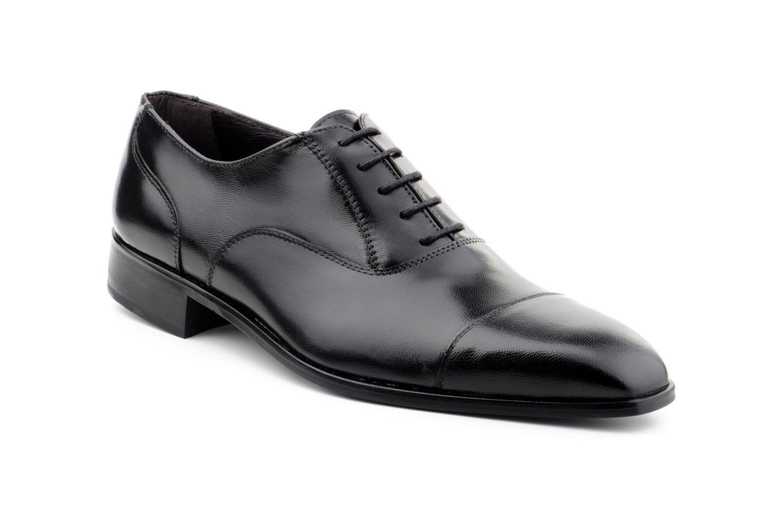 Herren Business Schuhe Echtleder Schwarz Braun Größe Gr. 39 40 41 42 43 44 45